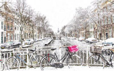 Gouda in de sneeuw